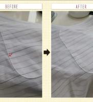白洗舎クリーニングのシャツのシミ抜き