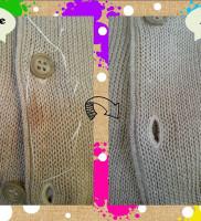 白洗舎クリーニングのセーターのシミ抜き